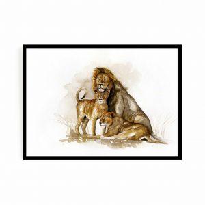 Family portrait (lions)